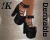 !K! Black Bow Goth Heels