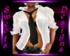 SD WhiteShirt W/Blk Tie
