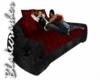 [BW]Dark Red Cuddle Sofa