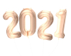 2021 Rose Gold Balloons