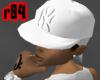 [r84] White Yankee Cap 2