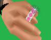 5 Stone Ring /Pink