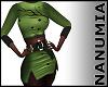autumn green dress