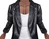 Black Leather Jacket (M)
