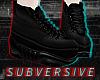 | 90s blk plat sneakers|