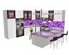 Purple and White Kitchen