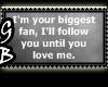 [GB] Biggest Fan Stamp