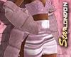 Pink Fur Coat Short
