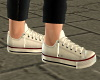 Girls White Lo Sneakers