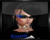 Blk/Blu Skeleton Glasses