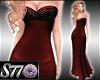 [S77]RedWine Gown
