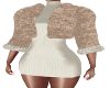 Cream Knit Dress & Fur