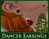 Dancer Earrings Ruby