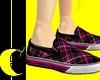 Pink Plaid Sneakers