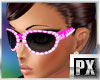 |PX|Diamond Glasses Pink