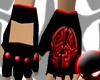 Black/Red Tribal Gloves