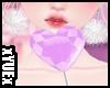 *Y* Heart Lollipop Lila