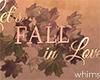 Fall Love Wall Sign