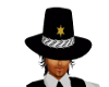 Sheriff´s Hat with hair