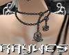 [R] Necklace SkullFlower