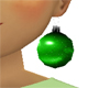 Green Christmas Earring