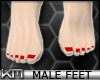 +KM+ Male Feet Red