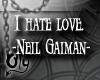 "[Oly] ""I hate love"""