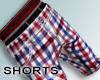 - Shorts, plaid