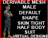 Half Suit Male Body Mesh