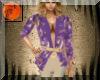 Purple gold open suit