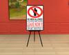 No Men Blackboard