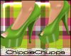 Peridot Shine Pumps