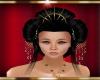 geisha hair black&gold