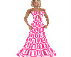 Pink  Geometric Gown