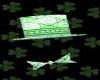 St Patrick Day hat tie