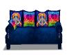 Blue Hippie Cuddle Sofa