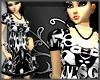 *SG* Swirly Dress B&W