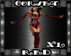 Corset Red XL