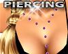 Pink Stud Chest Piercing