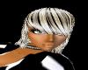white/black hair