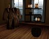 Bathroom Robe and Shelf