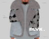 B.sage jacketxscarf