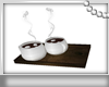 ! 2 Cups  Hot Coco Tray