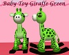 Baby Toy Giraffe Green
