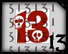 13 Skull Red Dark No BG