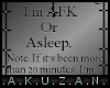 :A: Head Sign AFK/Asleep