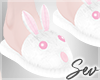 *S Easter Bunny Slippers