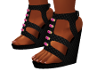 Black Metta Wedges