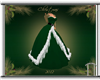 Grn/White Christmas Gown
