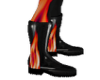 pvc red flame boot